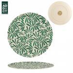 Bambusz tányér levélmintás