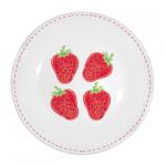 Eper mintás tányér
