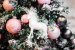 Fehér csillámos unikornis