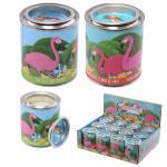 Fém flamingós gyertya