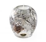 Karácsonyi üveg teamécsestartó