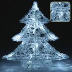 Világítós fenyőfa 16 LED-es fehér