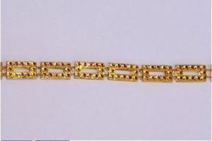 12mm x 10 yard TG-1 strassz akril kövek, füzér arany