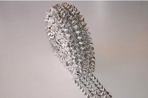 45mm x 5 yard KUP-5 strassz akril kövek, füzér ezüst