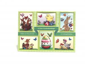 Ajándékkísérő kártya húsvéti