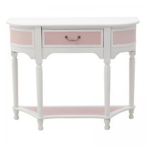 Asztal rózsaszin-fehér