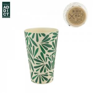 Bambusz pohár levélmintás