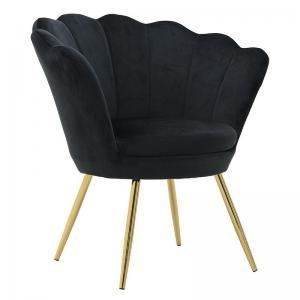 Bársony fotel fekete
