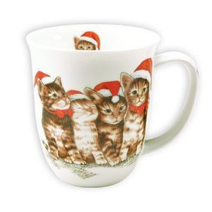 Bögre cicás karácsonyi fehér