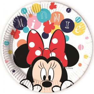 Disney Minnie papirtányér 8db/csomag