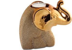 Teamécsestartó elefánt arany