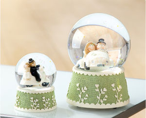 Esküvői hógömb kicsi