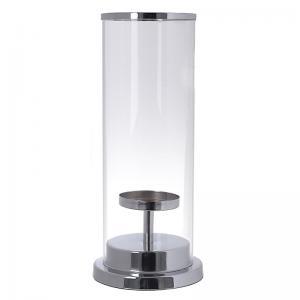 Ezüst gyertyatartó üveg
