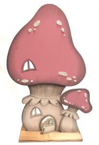 Fa gomba rózsaszín