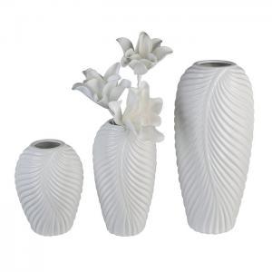 Fehér mintás váza nagy