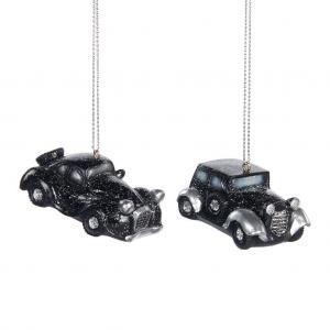Fekete autók karácsonyfadisz