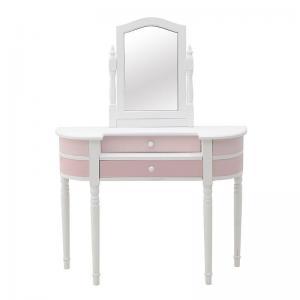 Fésülködő asztal rózsaszin-fehér