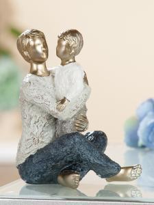 "Figura ""Atya Fiúval"" antik arany"