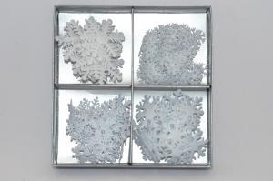 Hópehely szett filc 16x16x3cm fehér (elfogyott)