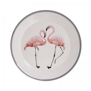 Flamingós tányér kicsi