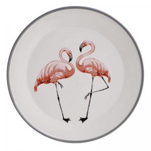 Flamingós tányér nagy