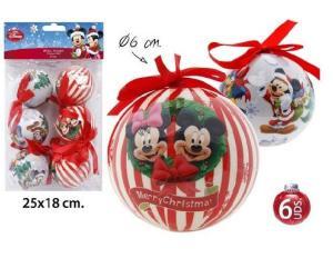 Gömb Mickey-Minnie 6db