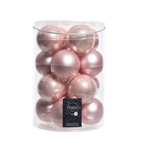 Gömb rózsaszin 8cm 16db/csomag
