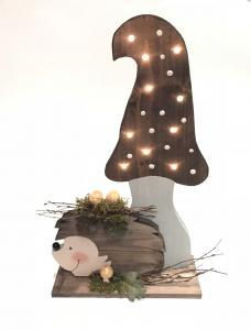 Gomba süni világítós