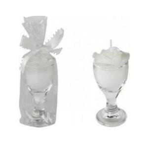 Gyertya Rose üveg