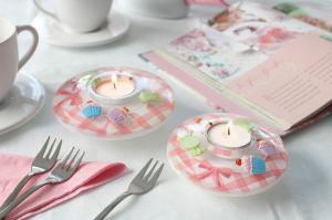 Gyertyatartó ufo sweet cupcake rózsaszín