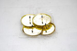 Gyertyatartó talp fém 8 cm arany 4db/csomag