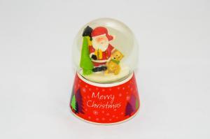 Hógömb Merry Christmas mikulás