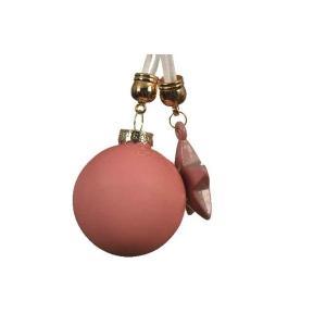 Karácsonyfa disz rózsaszin