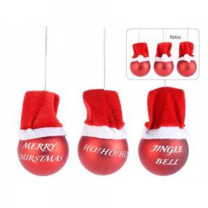 Karácsonyfa disz piros