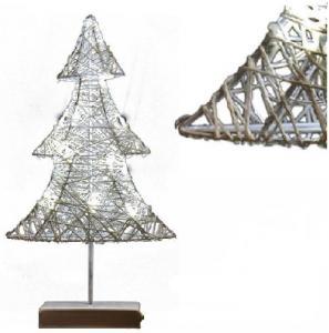 Karácsonyfa rattan 20 LED-es meleg fehér
