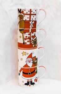 Karácsonyi bögre 4 darabos télapó és barátok