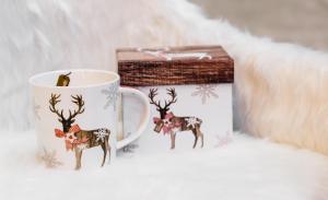 Karácsonyi bögre díszdobozban Country Xmas Deer