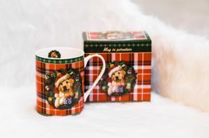 Karácsonyi bögre díszdobozban Xmas Puppy
