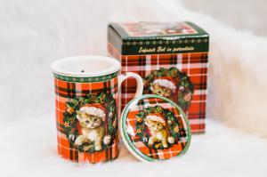 Karácsonyi bögre díszdobozban Xmas Kitty