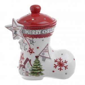Karácsonyi cukortartó csizma kicsi