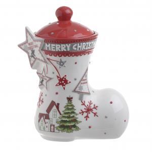 Karácsonyi cukortartó csizma nagy