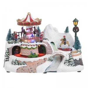 Karácsonyi dekoráció forgó világitó