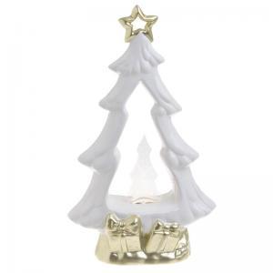 Karácsonyi dekoráció fenyőfa ledes