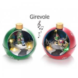 Karácsonyi gömb fényekkel és zenével