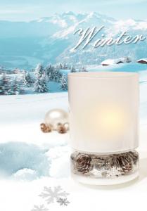 Karácsonyi lámpás teamécsestartó