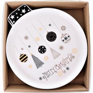 Karácsonyi mintás tányér