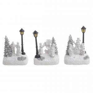 Karácsonyi színhely LED-es kicsi háromféle