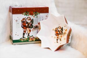 Karácsonyi tál díszdobozban Vintage Xmas
