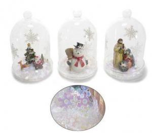 Karácsonyi üveg dekoráció