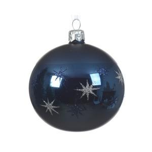 Kék gömb 8cm 6db/csomag